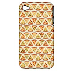 Food Pizza Bread Pasta Triangle Apple Iphone 4/4s Hardshell Case (pc+silicone)