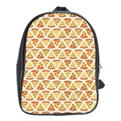Food Pizza Bread Pasta Triangle School Bag (xl)