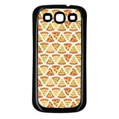 Food Pizza Bread Pasta Triangle Samsung Galaxy S3 Back Case (black)