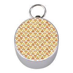 Food Pizza Bread Pasta Triangle Mini Silver Compasses