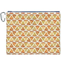 Food Pizza Bread Pasta Triangle Canvas Cosmetic Bag (xxxl)