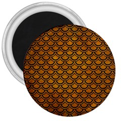 Scales2 Black Marble & Yellow Grunge 3  Magnets