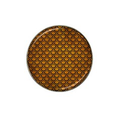 Scales2 Black Marble & Yellow Grunge Hat Clip Ball Marker (10 Pack)