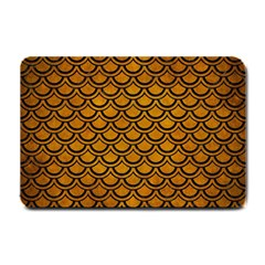Scales2 Black Marble & Yellow Grunge Small Doormat