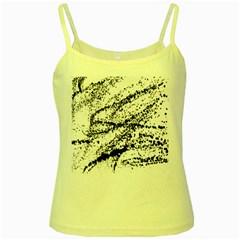 Ink Splatter Texture Yellow Spaghetti Tank