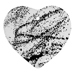 Ink Splatter Texture Heart Ornament (two Sides)