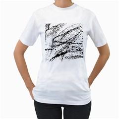 Ink Splatter Texture Women s T Shirt (white)