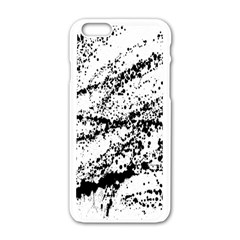 Ink Splatter Texture Apple Iphone 6/6s White Enamel Case
