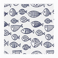 Love Fish Seaworld Swim Blue Sea Water Cartoons Medium Glasses Cloth (2 Side)