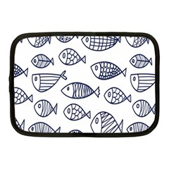 Love Fish Seaworld Swim Blue Sea Water Cartoons Netbook Case (medium)