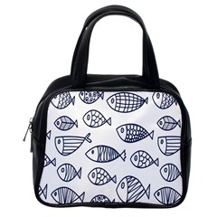 Love Fish Seaworld Swim Blue Sea Water Cartoons Classic Handbags (one Side)