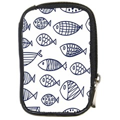 Love Fish Seaworld Swim Blue Sea Water Cartoons Compact Camera Cases