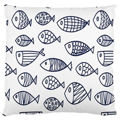 Love Fish Seaworld Swim Blue Sea Water Cartoons Large Cushion Case (one Side)
