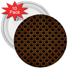 Scales2 Black Marble & Yellow Grunge (r) 3  Buttons (10 Pack)