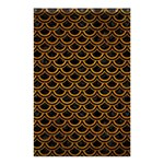 SCALES2 BLACK MARBLE & YELLOW GRUNGE (R) Shower Curtain 48  x 72  (Small)  42.18 x64.8 Curtain