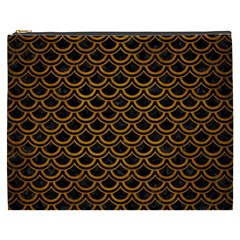 Scales2 Black Marble & Yellow Grunge (r) Cosmetic Bag (xxxl)