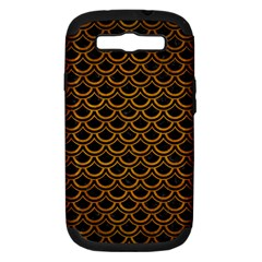 Scales2 Black Marble & Yellow Grunge (r) Samsung Galaxy S Iii Hardshell Case (pc+silicone)