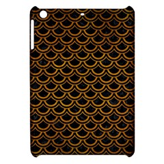Scales2 Black Marble & Yellow Grunge (r) Apple Ipad Mini Hardshell Case