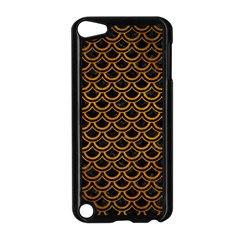 Scales2 Black Marble & Yellow Grunge (r) Apple Ipod Touch 5 Case (black)