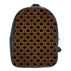 Scales2 Black Marble & Yellow Grunge (r) School Bag (xl)
