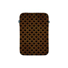 Scales2 Black Marble & Yellow Grunge (r) Apple Ipad Mini Protective Soft Cases