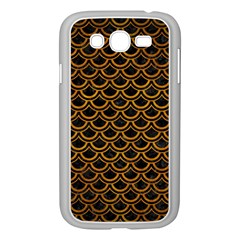 Scales2 Black Marble & Yellow Grunge (r) Samsung Galaxy Grand Duos I9082 Case (white)