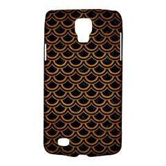 Scales2 Black Marble & Yellow Grunge (r) Galaxy S4 Active