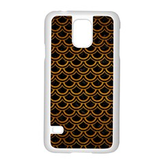 Scales2 Black Marble & Yellow Grunge (r) Samsung Galaxy S5 Case (white)