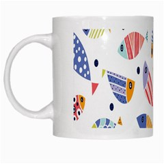 Love Fish Seaworld Swim Blue White Sea Water Cartoons Rainbow White Mugs