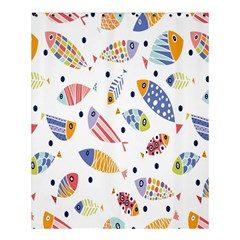 Love Fish Seaworld Swim Blue White Sea Water Cartoons Rainbow Shower Curtain 60  X 72  (medium)