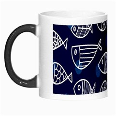 Love Fish Seaworld Swim Blue White Sea Water Cartoons Morph Mugs