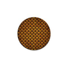 Scales3 Black Marble & Yellow Grunge Golf Ball Marker (10 Pack)