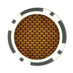 Scales3 Black Marble & Yellow Grunge Poker Chip Card Guard