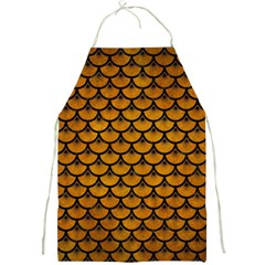 Scales3 Black Marble & Yellow Grunge Full Print Aprons