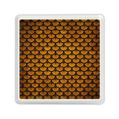 Scales3 Black Marble & Yellow Grunge Memory Card Reader (square)