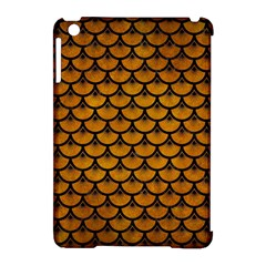Scales3 Black Marble & Yellow Grunge Apple Ipad Mini Hardshell Case (compatible With Smart Cover)
