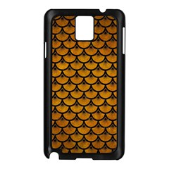 Scales3 Black Marble & Yellow Grunge Samsung Galaxy Note 3 N9005 Case (black)