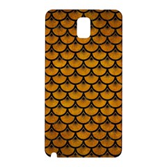 Scales3 Black Marble & Yellow Grunge Samsung Galaxy Note 3 N9005 Hardshell Back Case