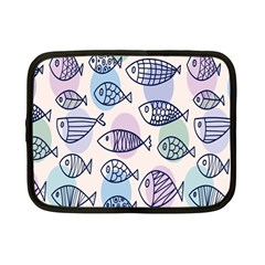 Love Fish Seaworld Swim Blue White Sea Water Cartoons Rainbow Polka Dots Netbook Case (small)