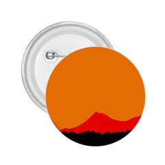 Mountains Natural Orange Red Black 2 25  Buttons