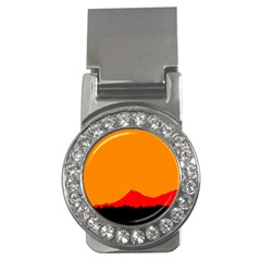 Mountains Natural Orange Red Black Money Clips (cz)