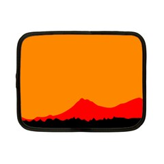 Mountains Natural Orange Red Black Netbook Case (small)