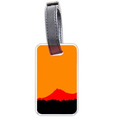 Mountains Natural Orange Red Black Luggage Tags (one Side)