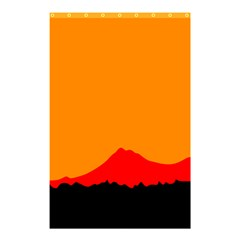 Mountains Natural Orange Red Black Shower Curtain 48  X 72  (small)