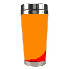 Mountains Natural Orange Red Black Stainless Steel Travel Tumblers