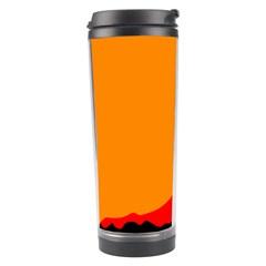 Mountains Natural Orange Red Black Travel Tumbler