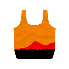 Mountains Natural Orange Red Black Full Print Recycle Bags (s)