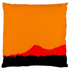 Mountains Natural Orange Red Black Standard Flano Cushion Case (two Sides)