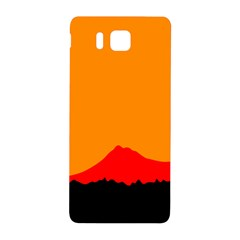 Mountains Natural Orange Red Black Samsung Galaxy Alpha Hardshell Back Case