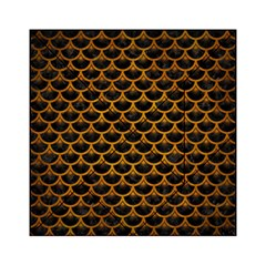 Scales3 Black Marble & Yellow Grunge (r) Acrylic Tangram Puzzle (6  X 6 )